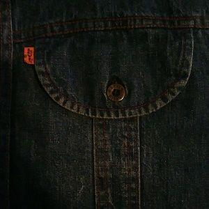 Levi's Tops - Vintage orange tab Levi's denim shirt